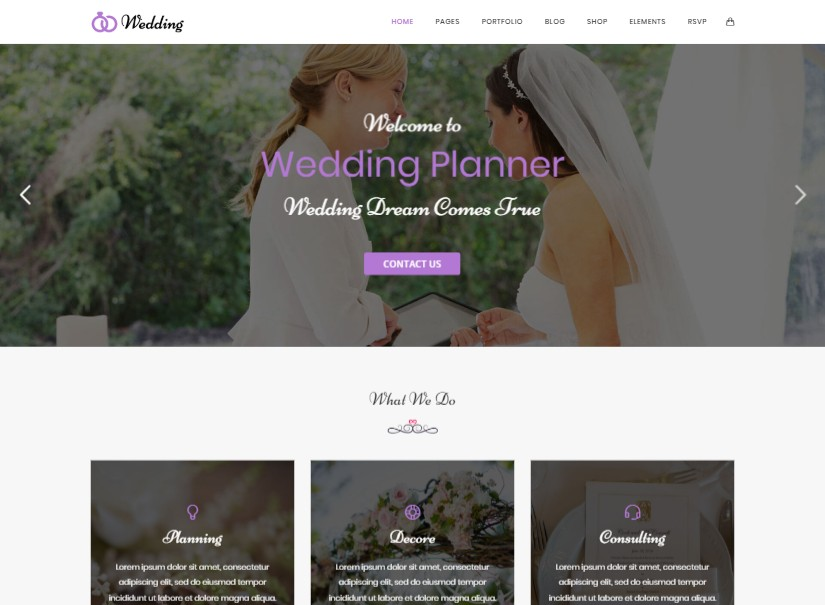 Wedding - best wedding website templates