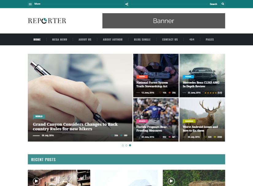 Max Reporter - html templates bootstrap