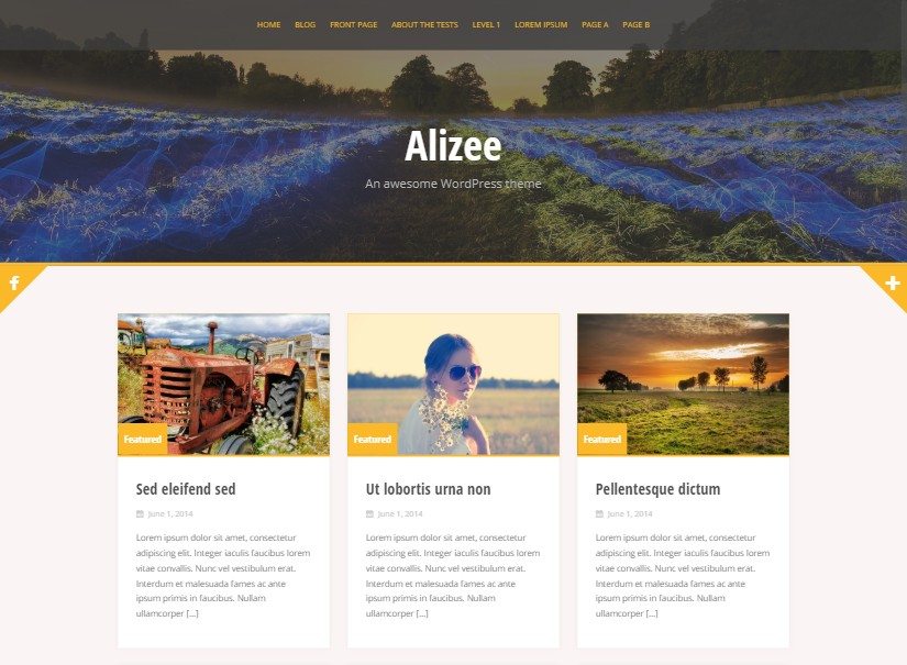 ALIZEE - free website templates