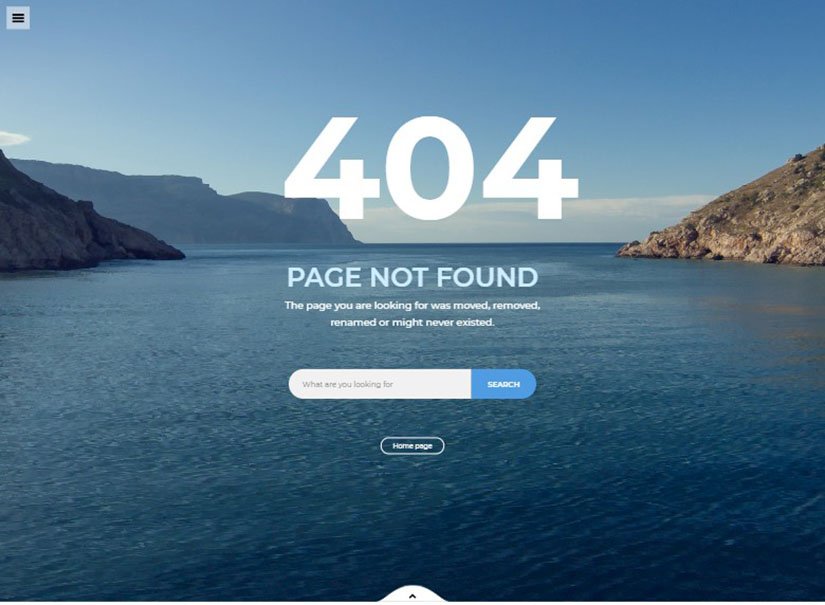 Best 404 page template