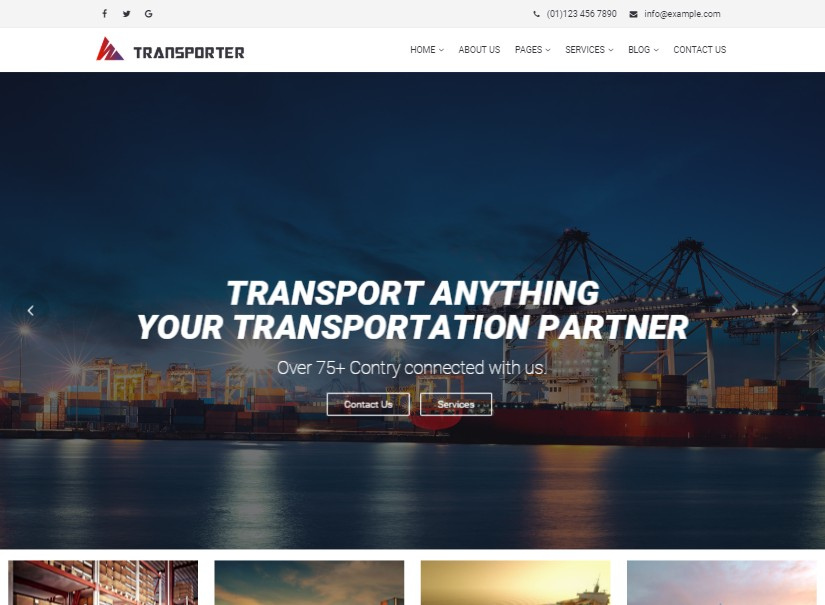 Transporter - best transport website templates