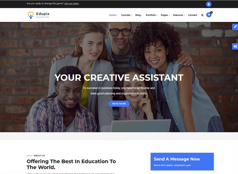 Edupia - Powerful Education, Courses Online Drupal 8.8 Theme