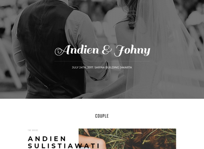 Kabheen - best wedding website templates
