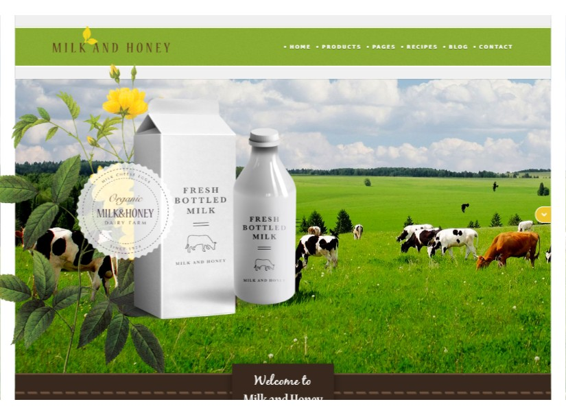 Milk - top agriculture website template