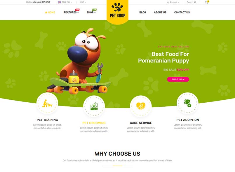 PetShop - Beautiful Responsive Magento 2 Theme