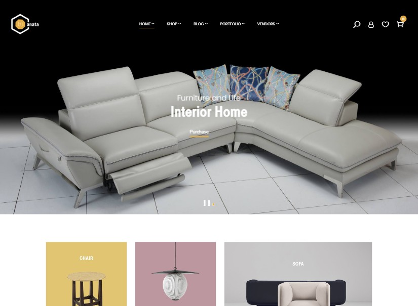Hanata - latest ecommerce website templates