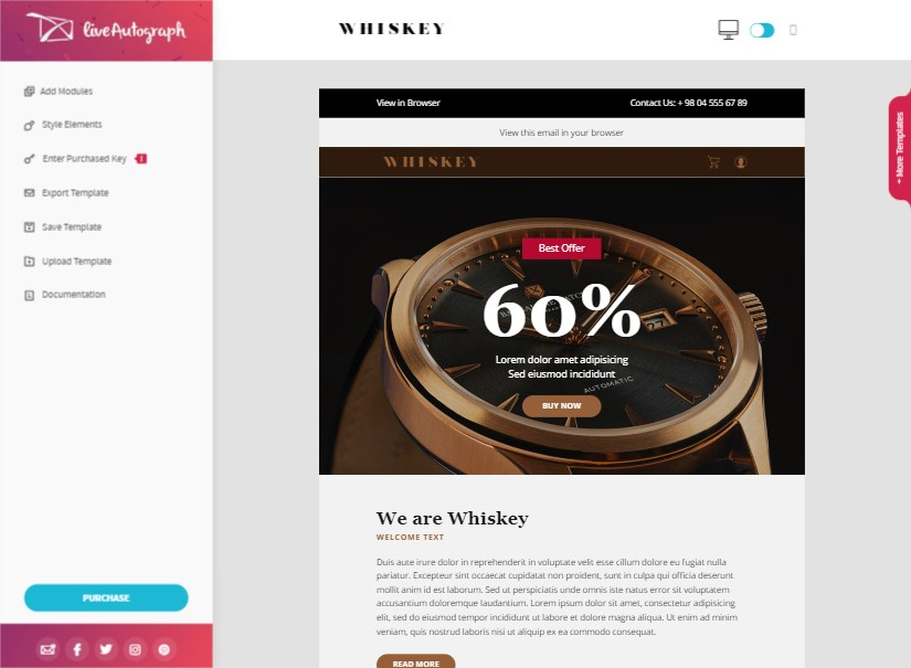 Whiskey - best emailer template