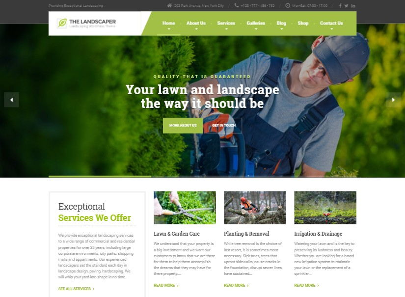 Landscaper - best agriculture website template