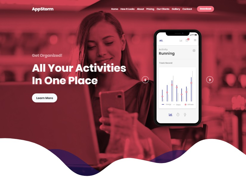 Appstorm - best technology website templates