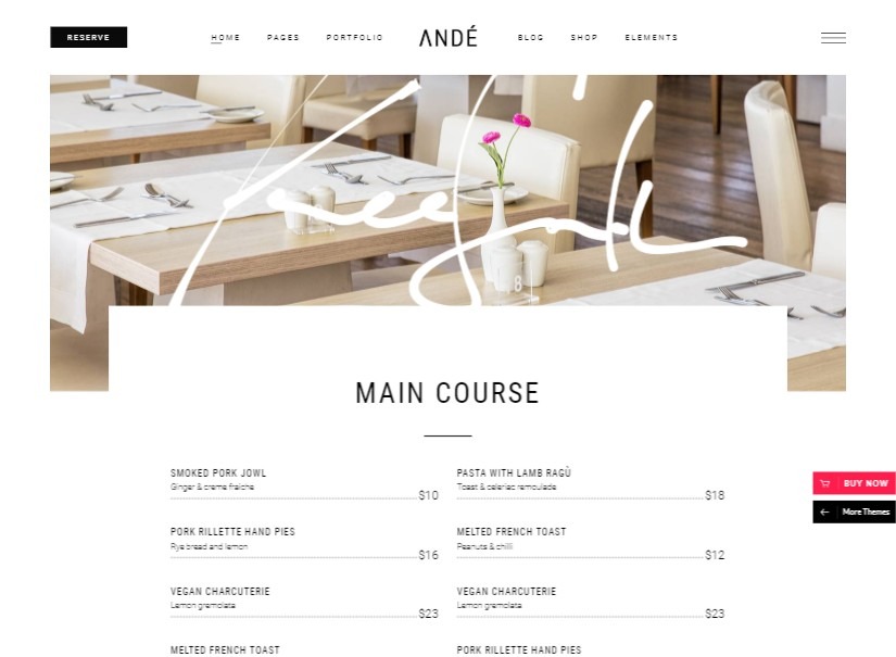 Andé - latest entertainment website template