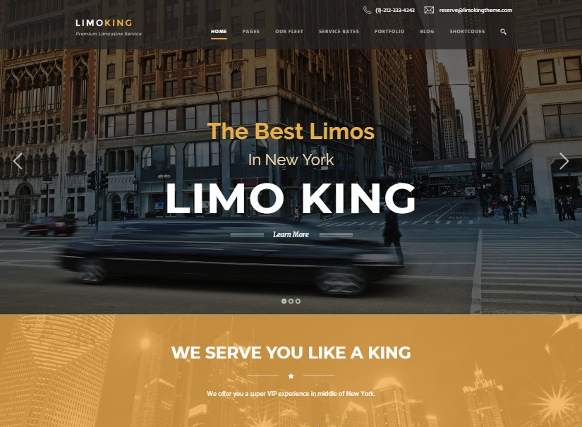 Limo King - transport website templates