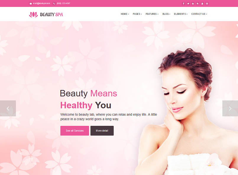 Spa Beauty Salon Joomla Template