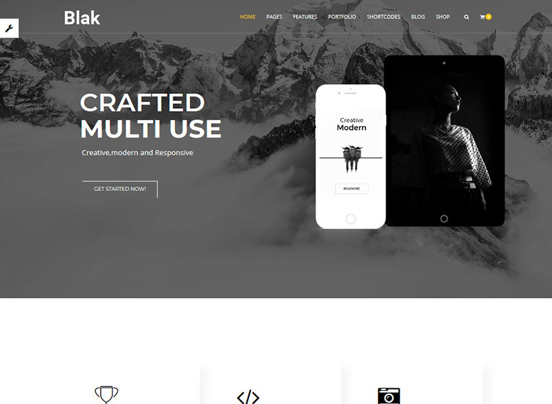 Blak - Responsive Multi-Purpose Drupal 8.7 Templates
