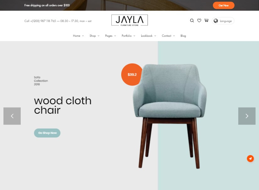 Jayla - top ecommerce templates