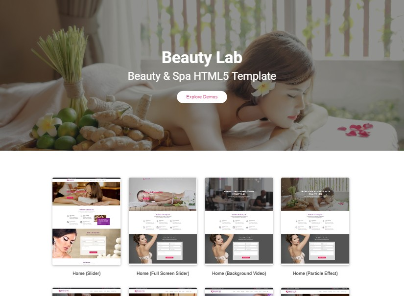 Beauty Lab - top beauty website templates