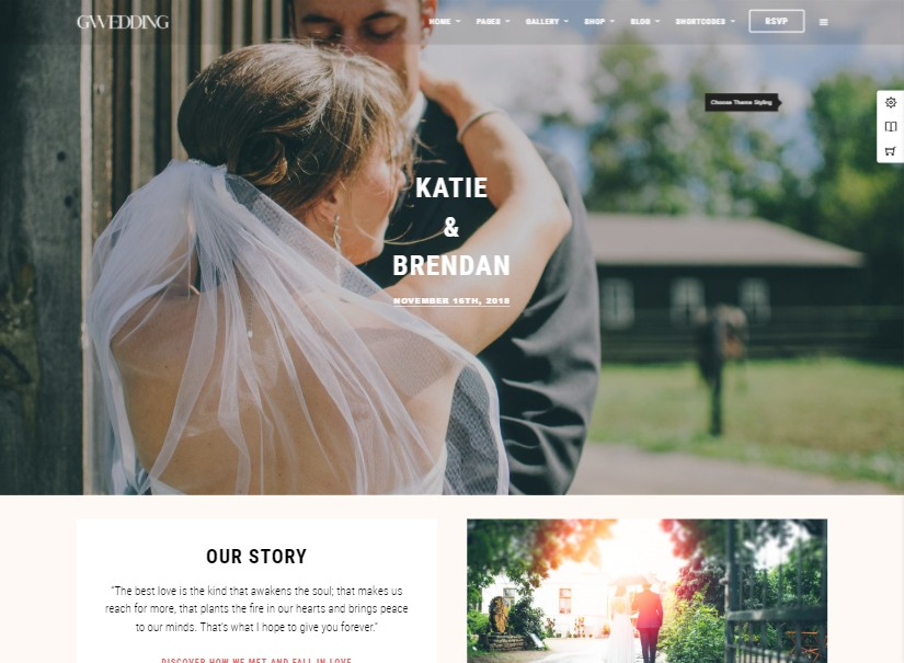 Grand - best wedding website templates