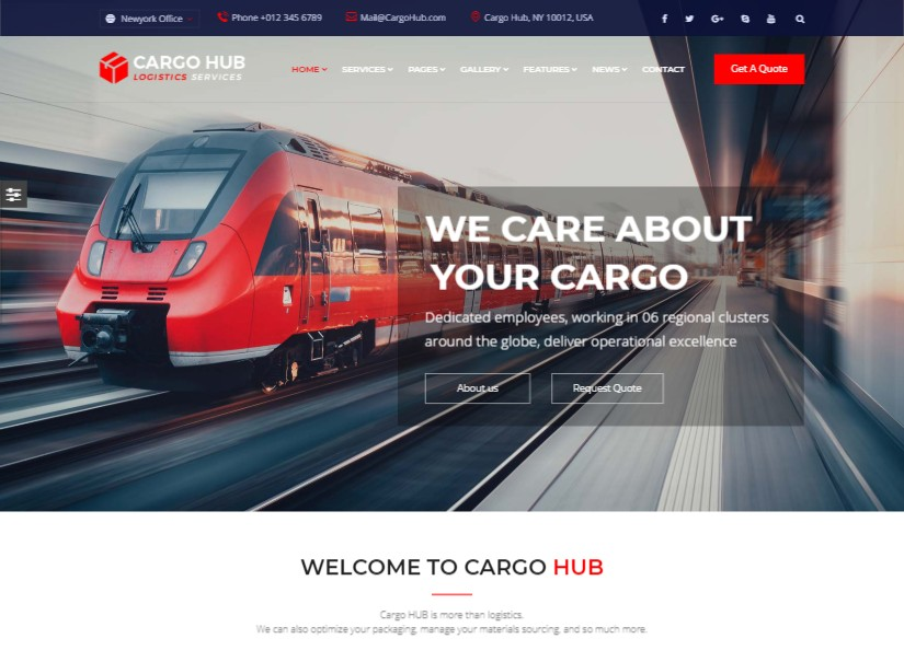 Cargo HUB - best transport website templates