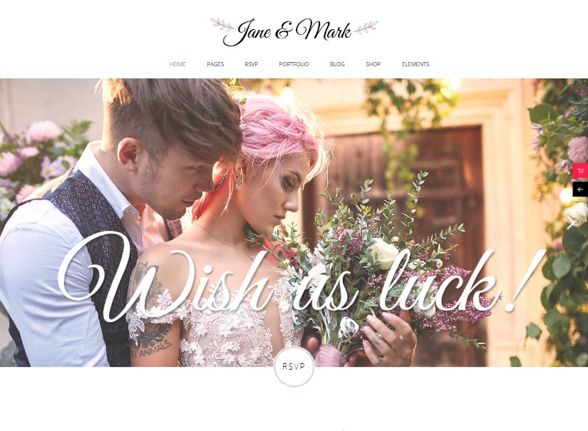 Jane - best wedding website examples