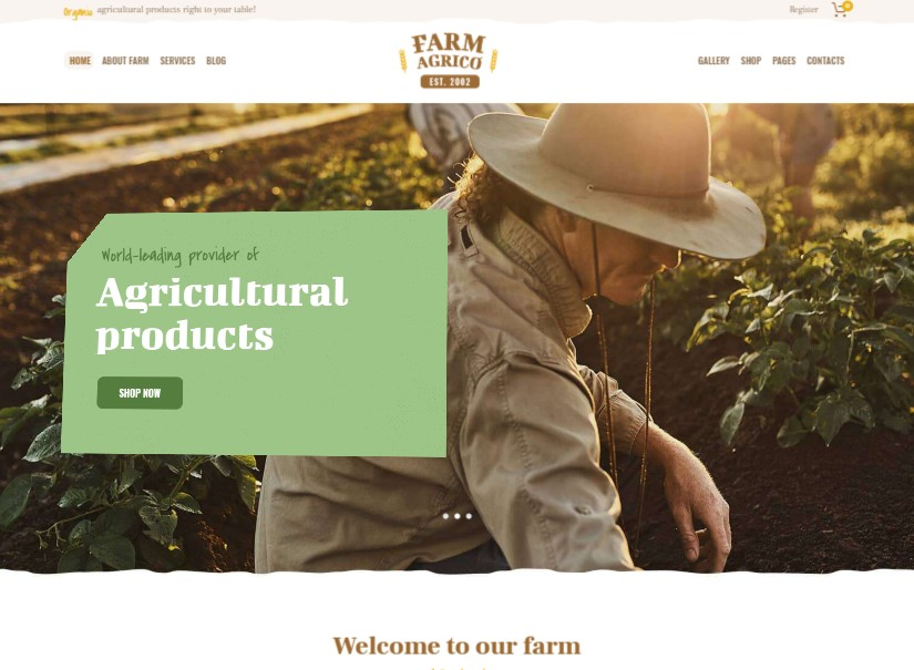Farm Agrico - latest agriculture website template