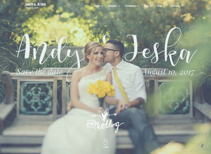 Glanz - best wedding website templates