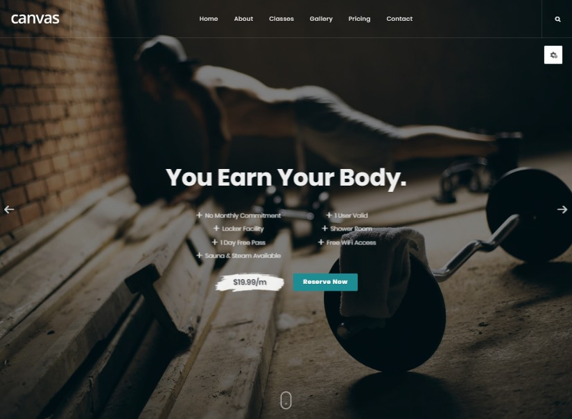 Canvas Gym - latest html templates download