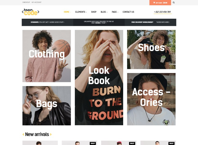 TeenCode - best fashion website template