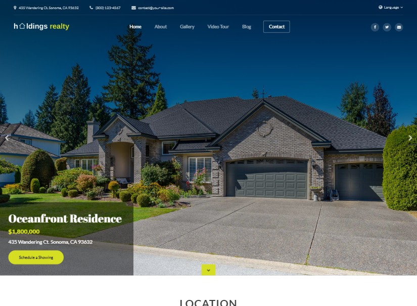 Holdings - latest real estate website templates