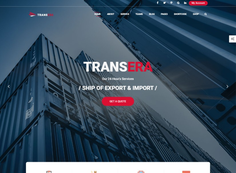 TransEra - best transport website templates