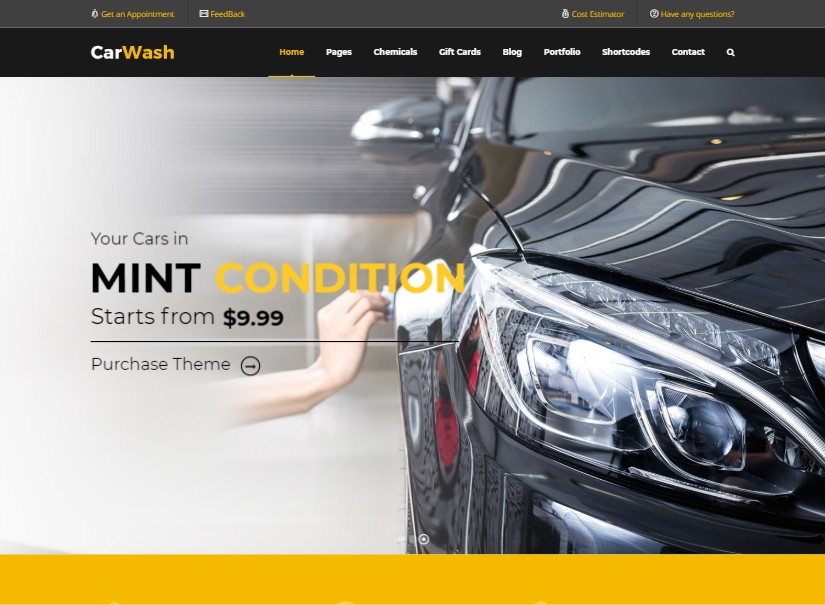 Car Wash - top transport website templates