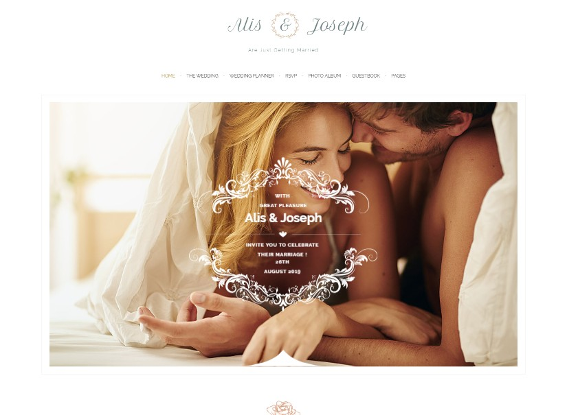 Alis - best wedding website templates