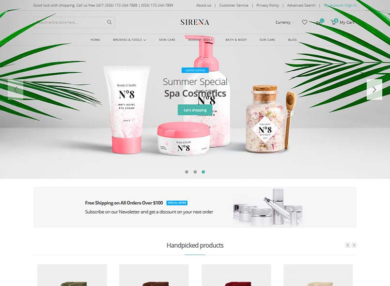 Sirena - Multi-Purpose Responsive Magento 2 Theme