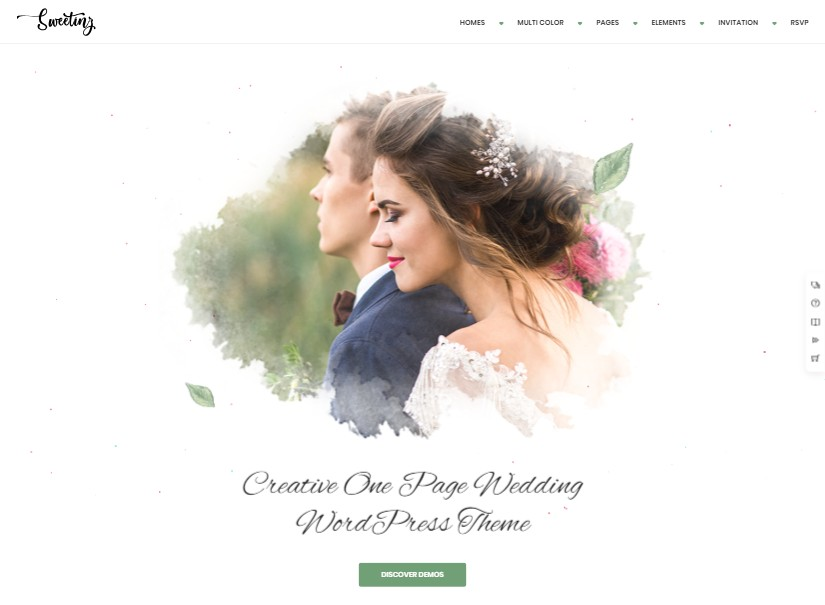 Sweetinz - best wedding website templates