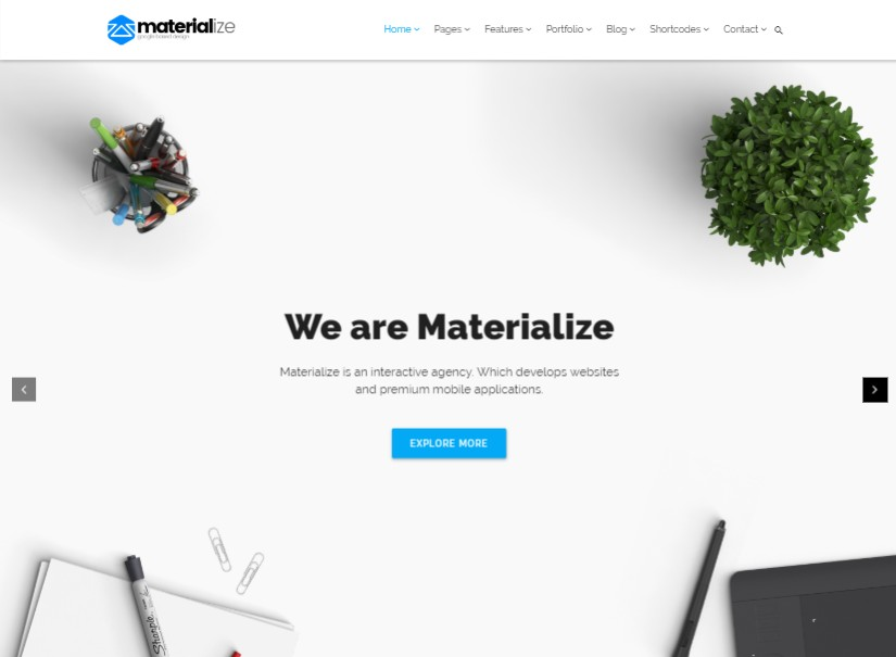 Materialize - latest material design templates