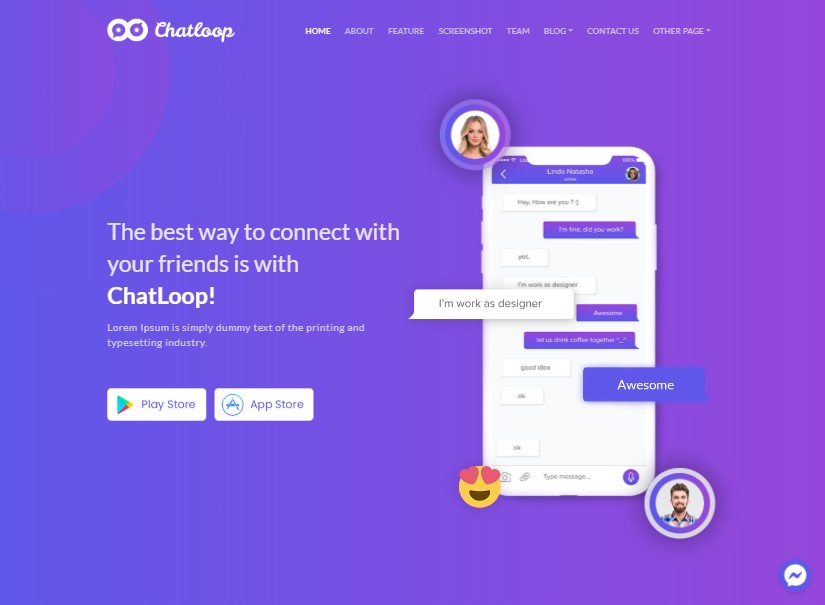 Chatloop - best angular templates
