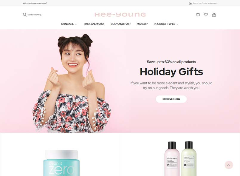 Hee-young - Korean Beauty Store Magento Theme