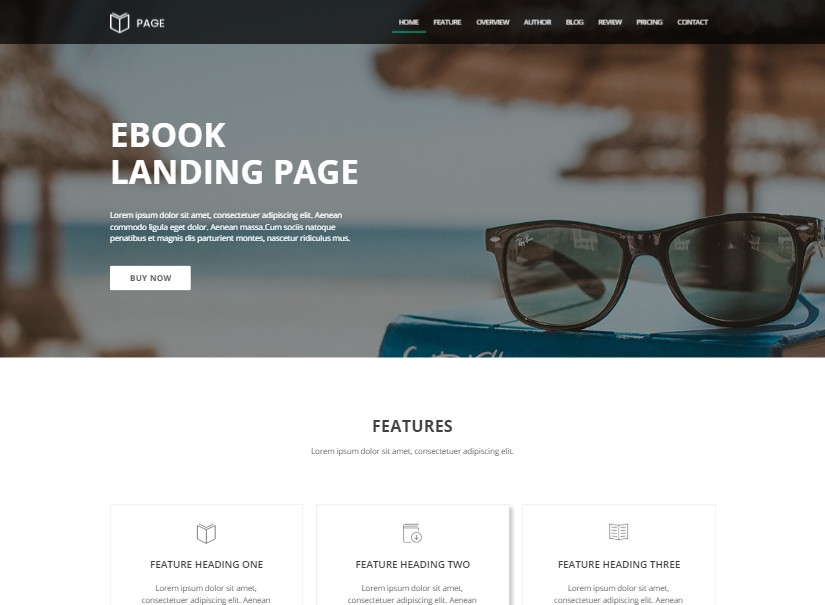 Page Ebook - latest landing page