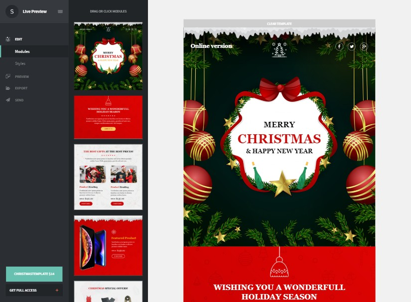 Christmas - best emailer template