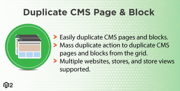 Magento 2 Duplicate CMS Page & Block