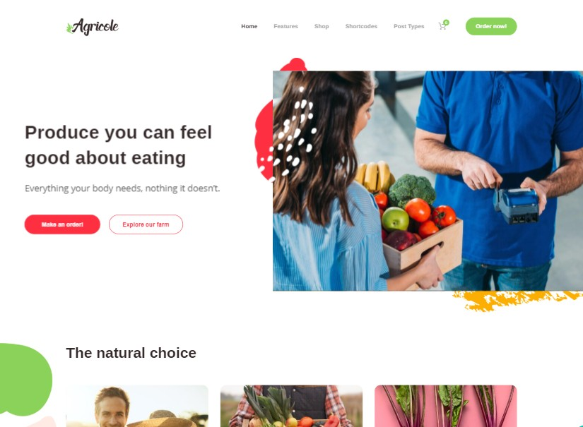 Agricole - latest agriculture website template