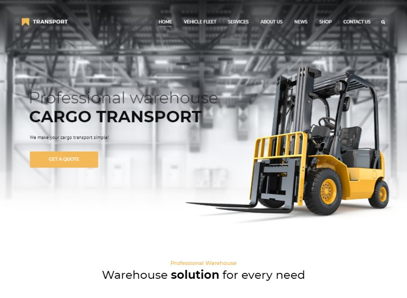 Transport - best transport website theme