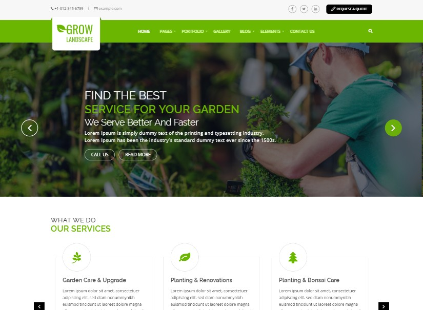 Grow Landscaping - latest agriculture website template