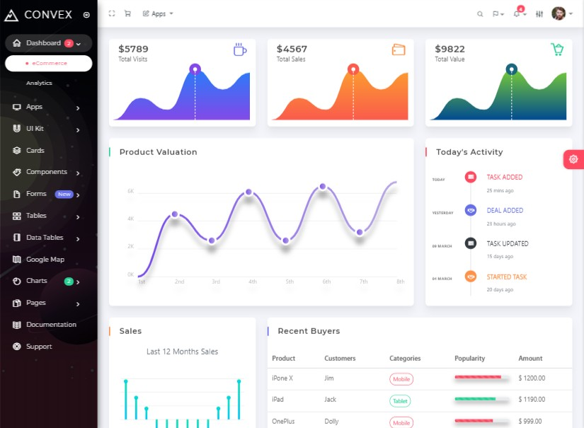 Convex - best admin templates
