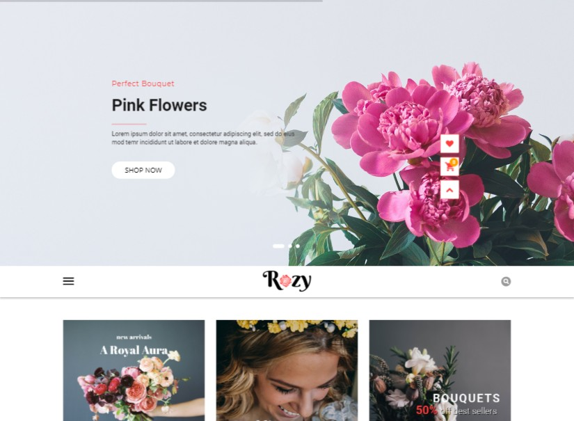 Rozy - latest ecommerce website templates