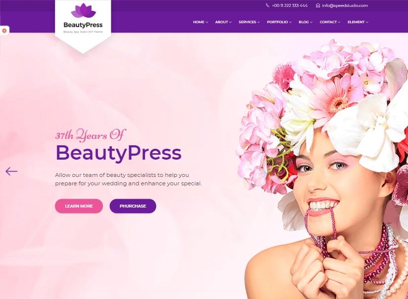 BeautyPress - latest beauty website template