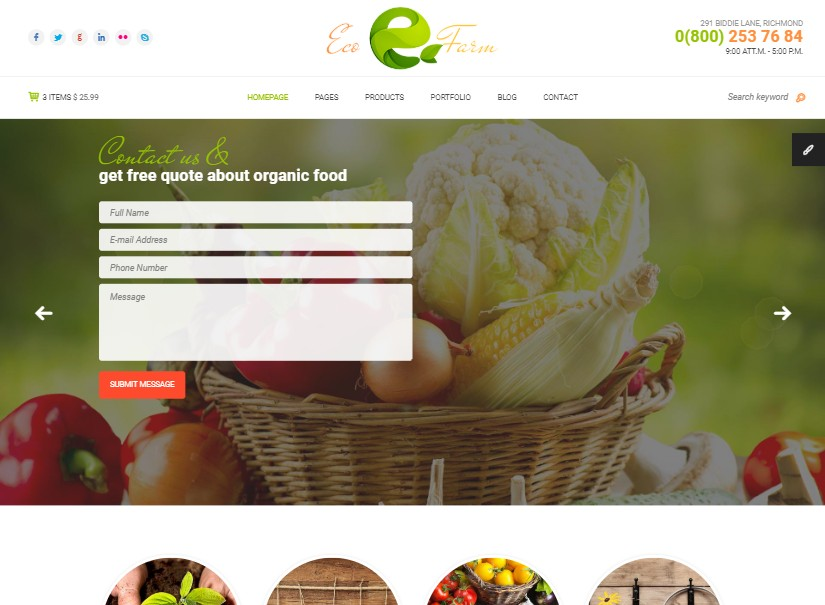 Eco Farm - top agriculture website template