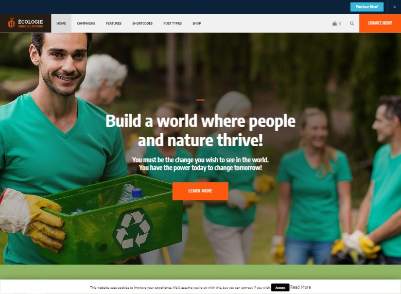 Ecologie - Nonprofit Latest Wordpress Theme
