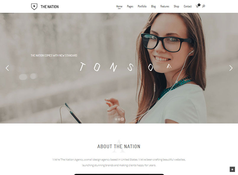 Nation - One & multi pages Drupal 8 theme