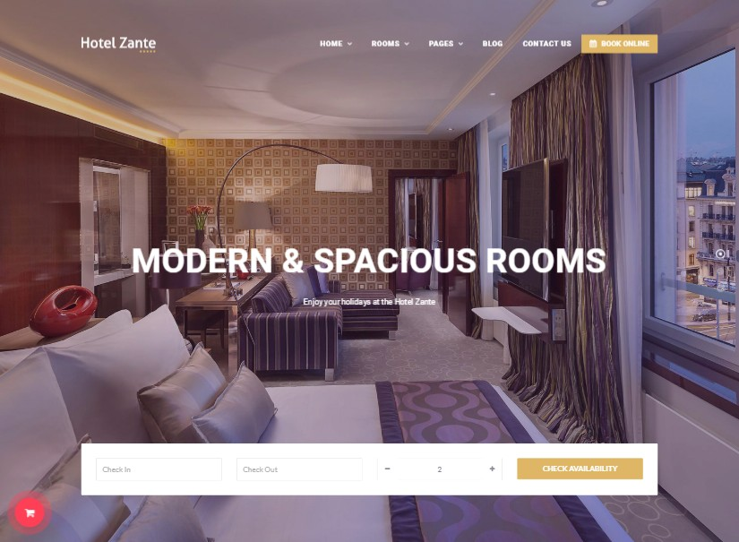 Hotel Zante - best Hotel Website Design