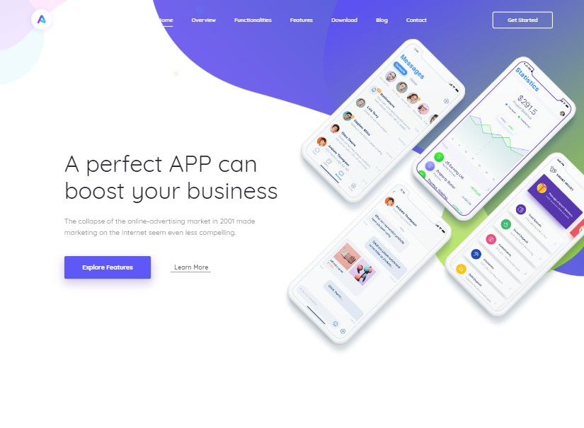 AppLand - best technology website templates
