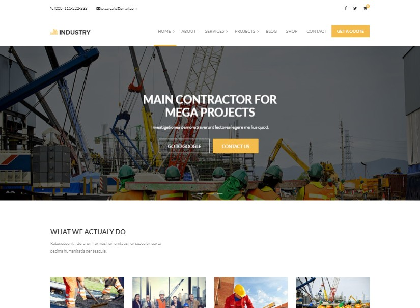 Industry - latest industrial website template